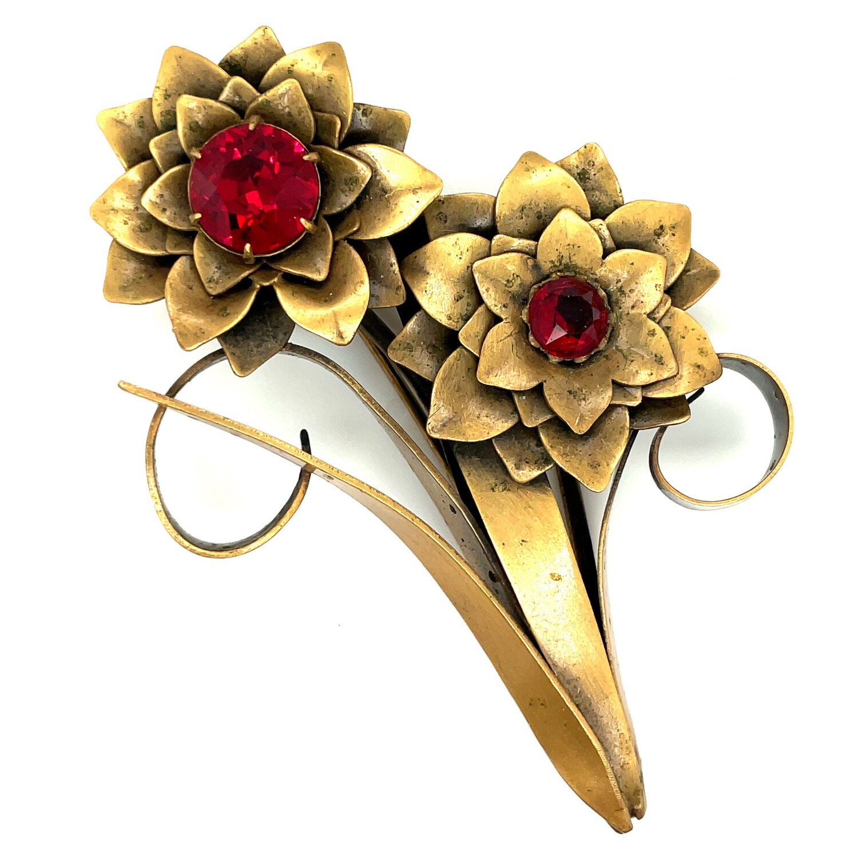 Vintage Joseff of Hollywood Flowers Brooch