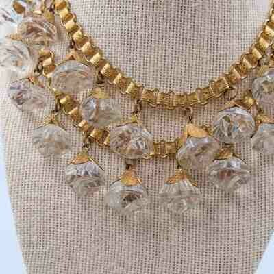 Vintage Early Miriam Haskell Glass Ball Necklace 1930s