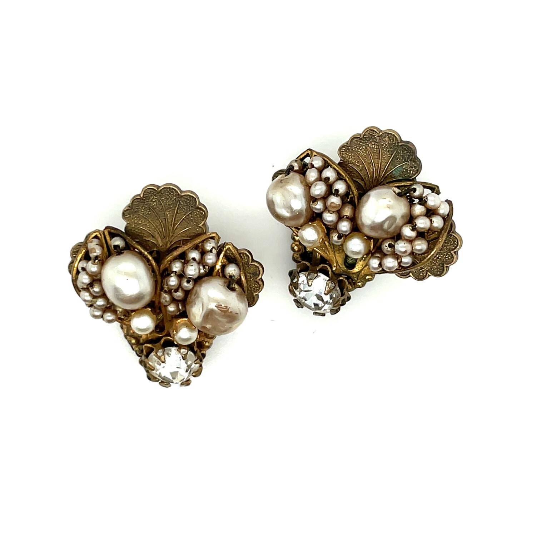 Vintage Miriam Haskell Bee Shape Earrings