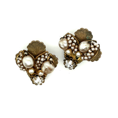 Vintage Miriam Haskell Bee Shape Earrings