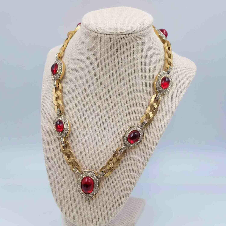 Vintage Jomaz Exceptional Moghul Necklace 1980s