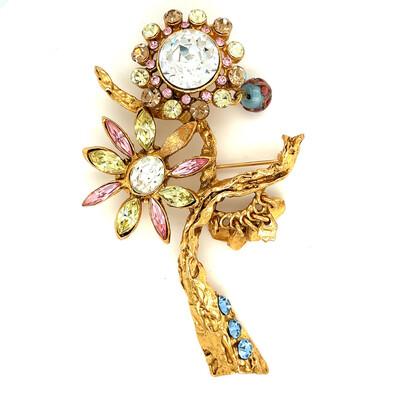 Vintage Christian Lacroix Flower Pin 1990s