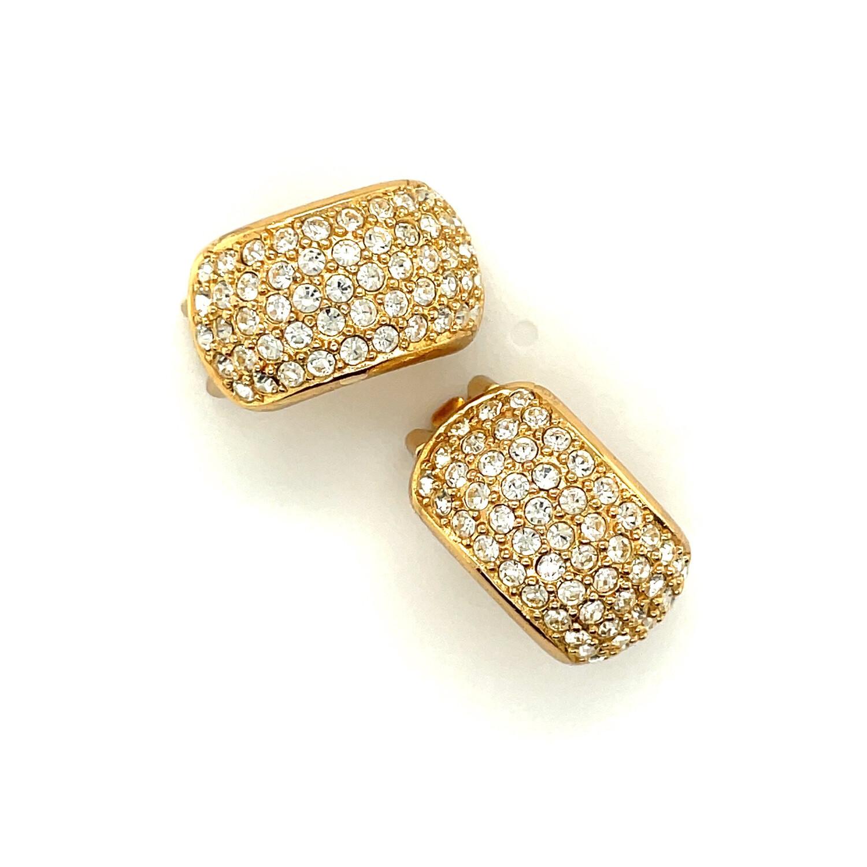 Christian Dior Rhinestones Earrings 1990s