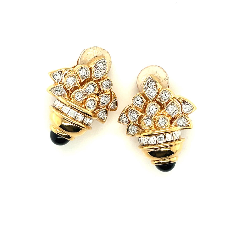 Nina Ricci Bouquet Earrings 1990s