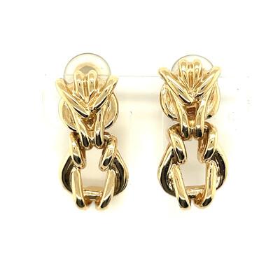 St John Hoop Earrings 1990s
