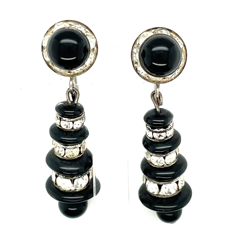 Vintage Art Deco Drop Earrings 1930's