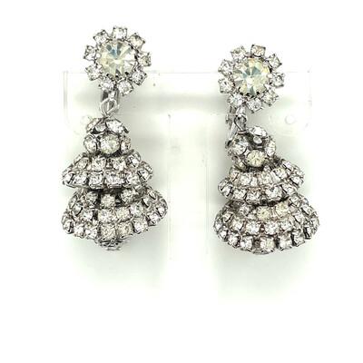 Vintage Hattie Carnegie Dangling Earrings 1950's