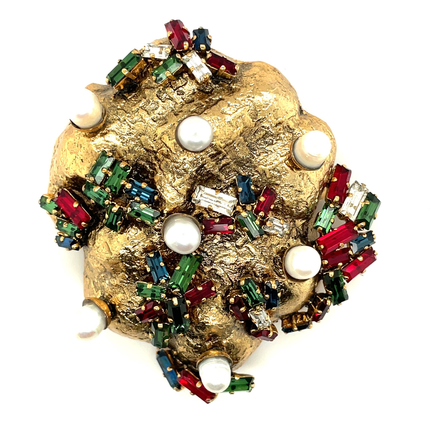 Very Collectible Christian Dior 1962 Moon Rock Brooch