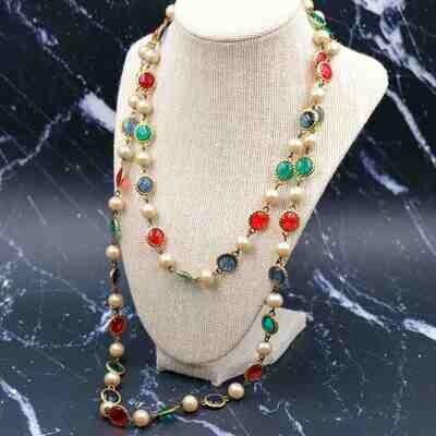 Vintage De Lillo Necklace Sotuar 1980's