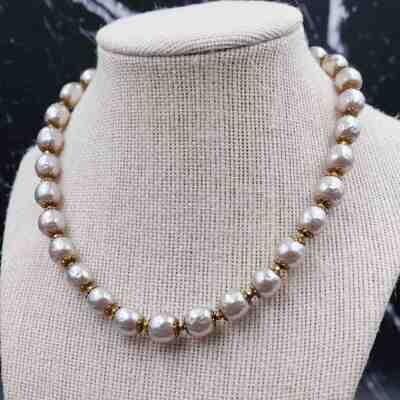 Vintage Miriam Haskell Light Grey Necklace 1950's