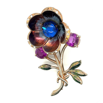 Early Vintage Flower Pin 1930's