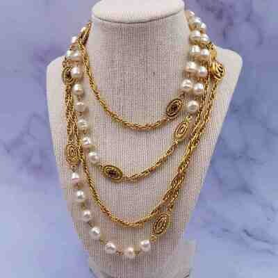 Chanel Vintage 1984 Long Sotuar Necklace
