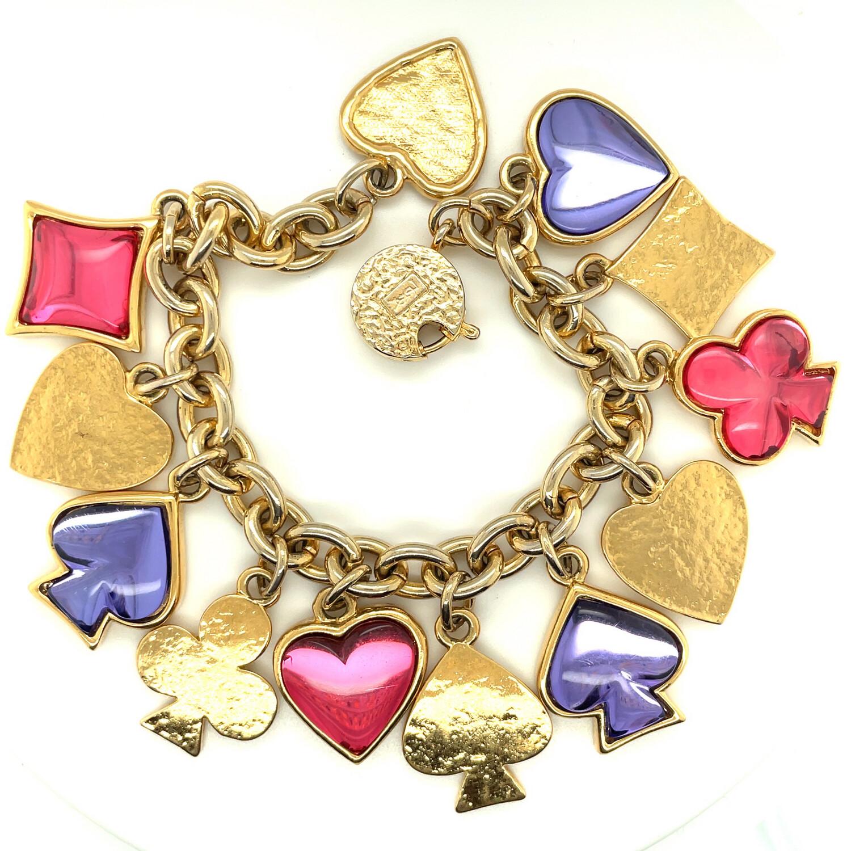 Vintage YSL Yves Saint Laurent Robert Goossens Design Bracelet 1980's