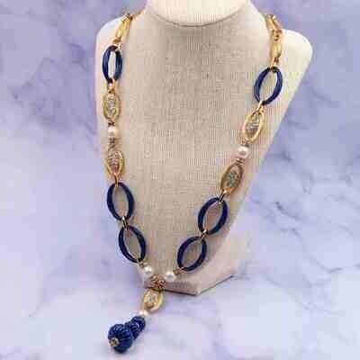 Collectible Christian Dior 1973 Sotuar Long Necklace