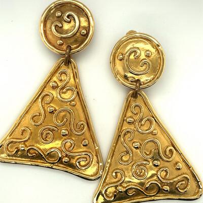 Edouard Rambaud Paris Massive Earrings 1980's