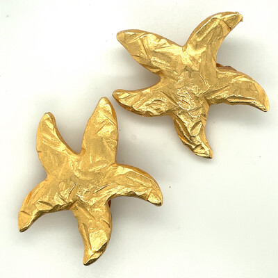 Edouard Rambaud Paris Sea Star Earrings 1980's