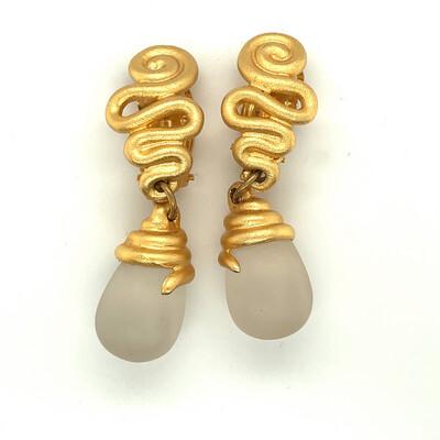Vintage Cecile Jeanne Paris Earrings 1990's