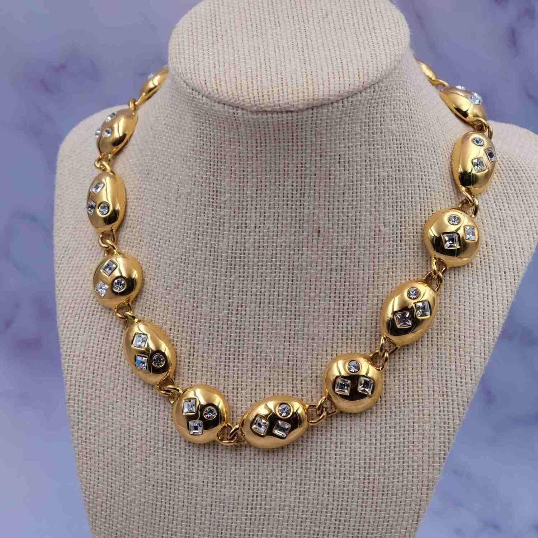 Vintage Napier Rhinestones Book Piece Necklace 1990's