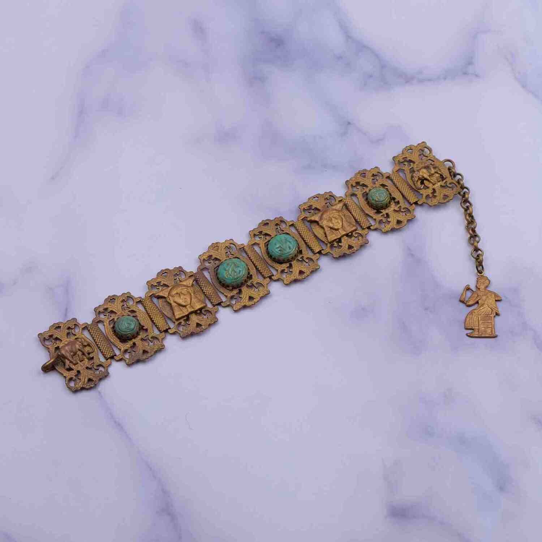 Antique Egyptian Revival Bracelet 1930's