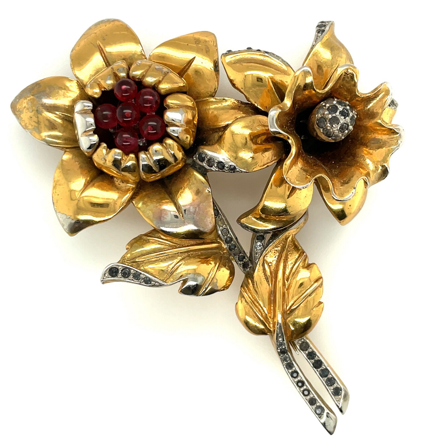 Vintage Early Bouquet Brooch 1940's