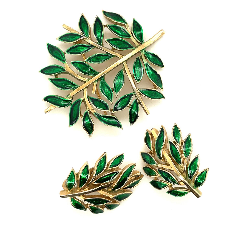 Trifari Vintage Leaf Set 1960's