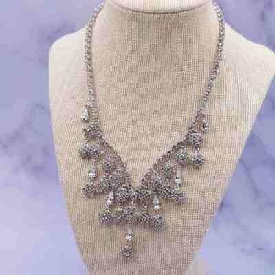 Vintage Christian Dior Crystal Rhinestones Necklace 1990's