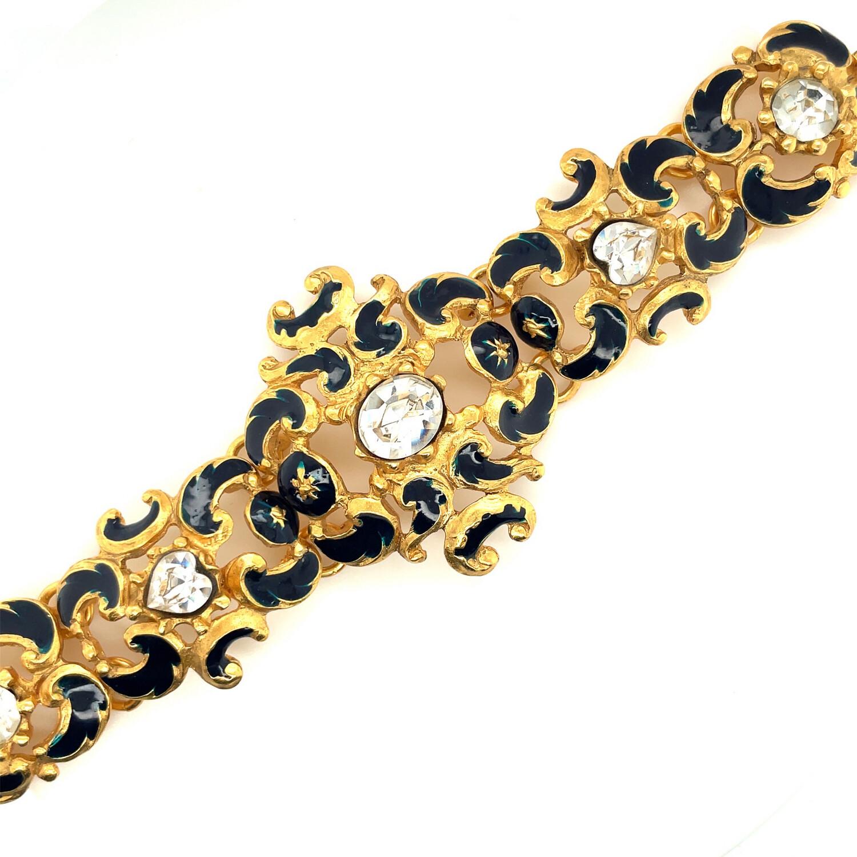 Vintage Christian Lacroix E94 Enamel Rare Bracelet