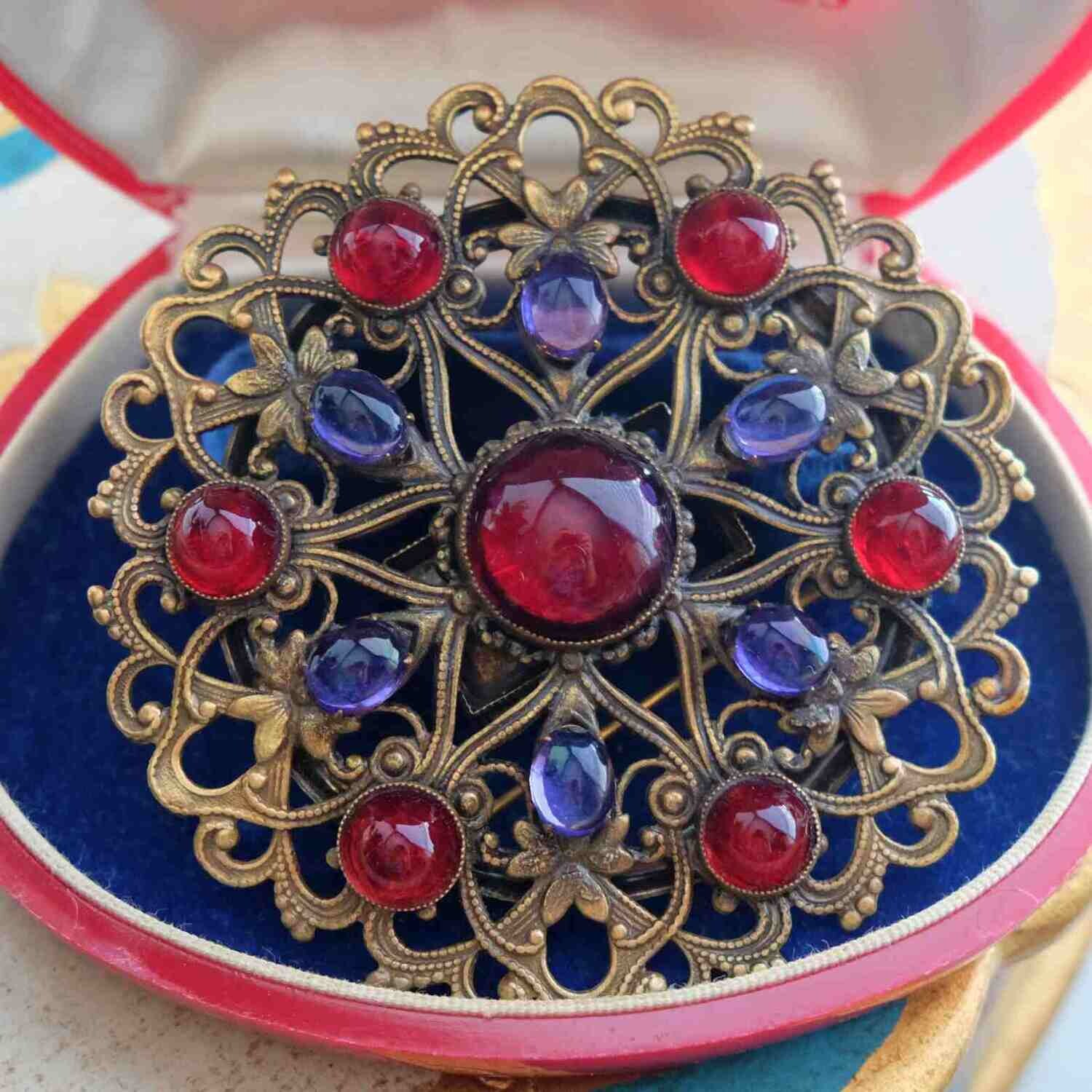 Vintage Collectible Joseff of Hollywood Massive Brooch 1930's