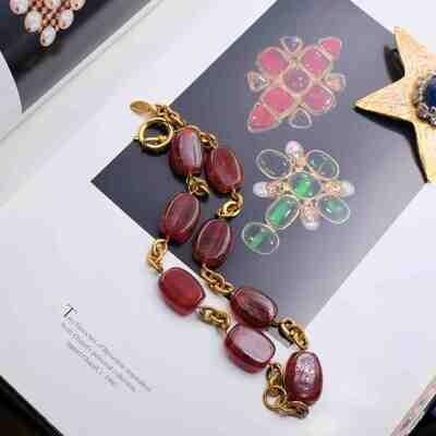 Vintage Chanel Gripoix Glass Necklace Season 23 1990's