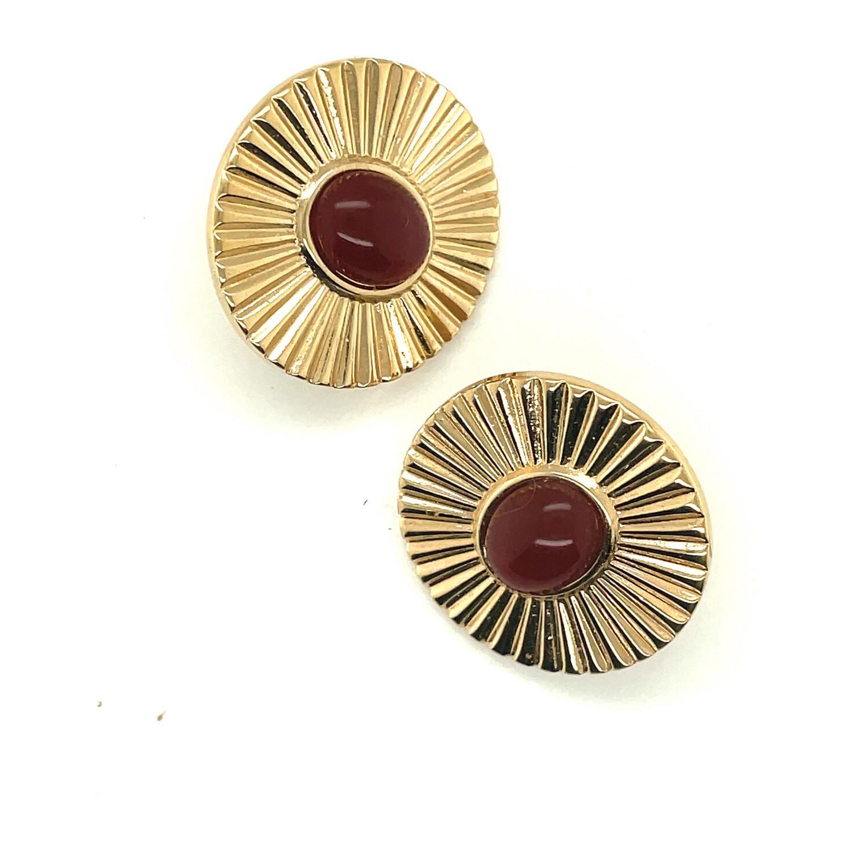Unsigned Pierced Vintage Earrings 1970's