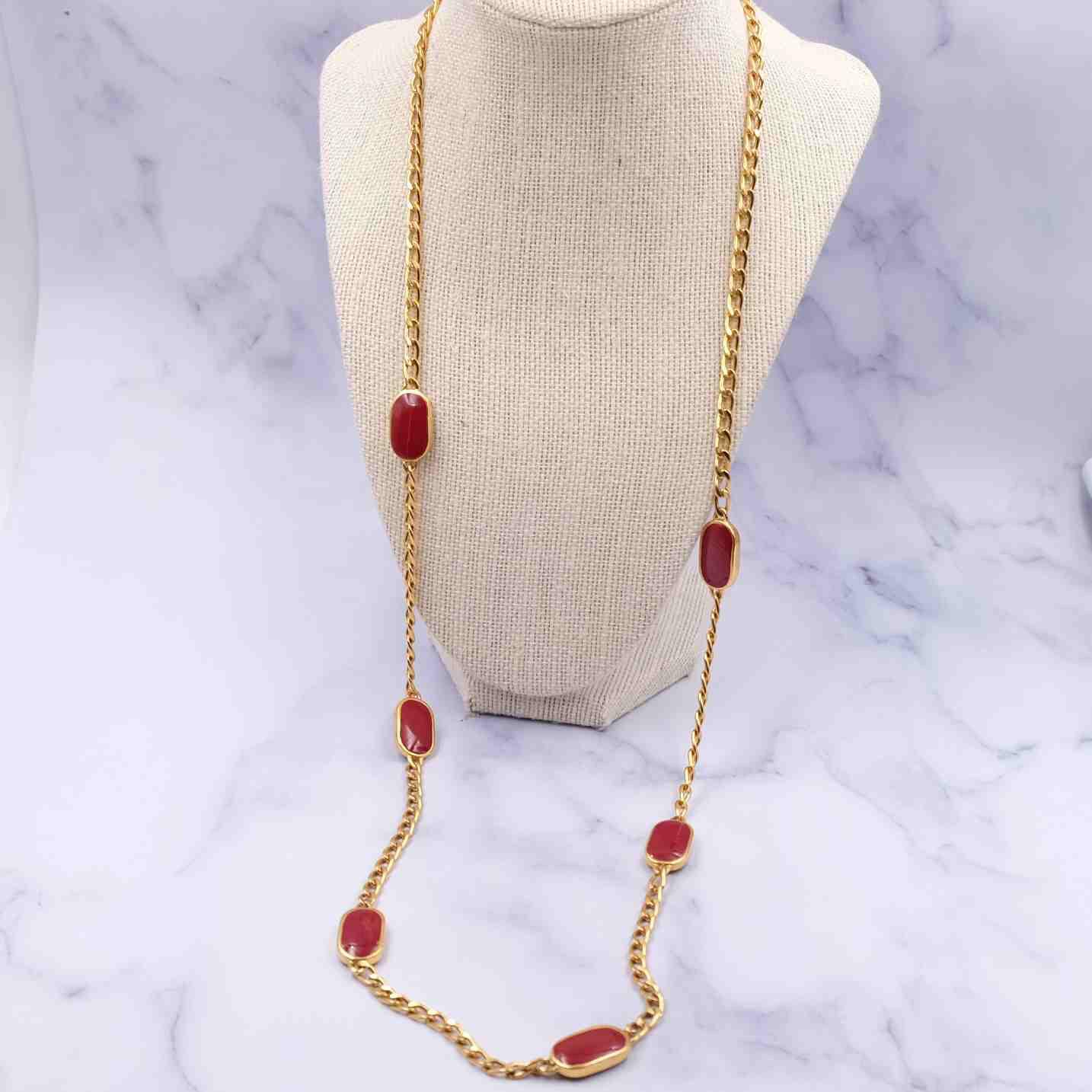 Vintage Lanvin Paris Sotuar Necklace 1980's