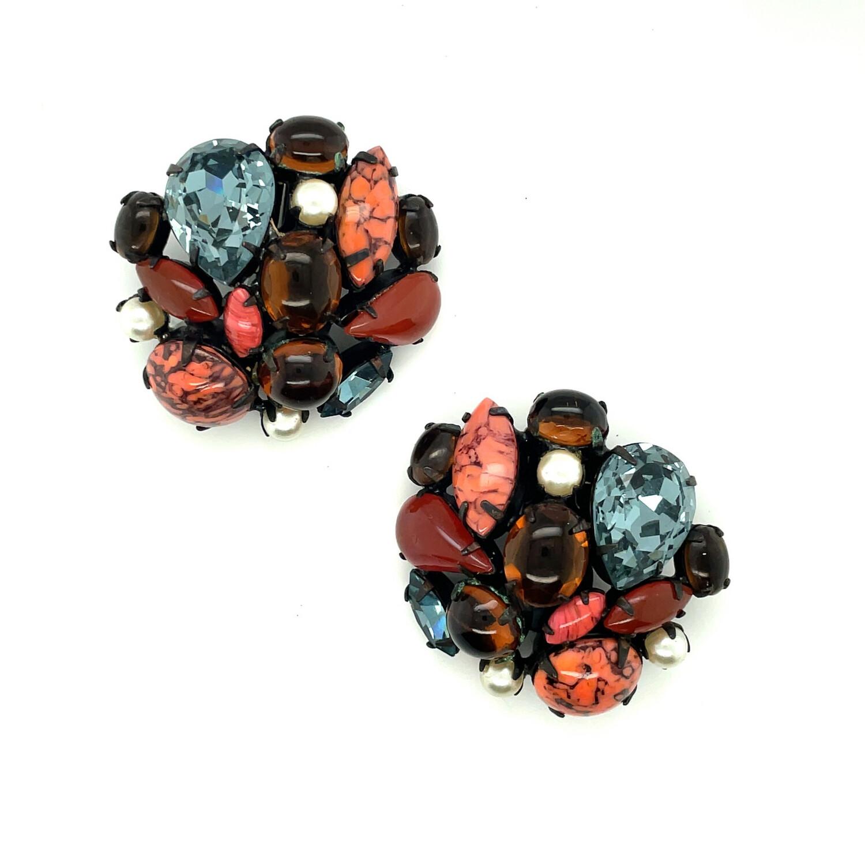 Vintage Schreiner Autumn Earrings 1950's