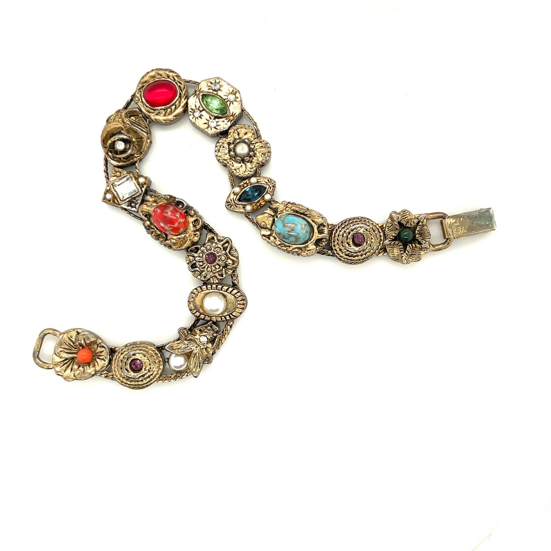 Vintage Victorian Revival Slide Bracelet 1960's