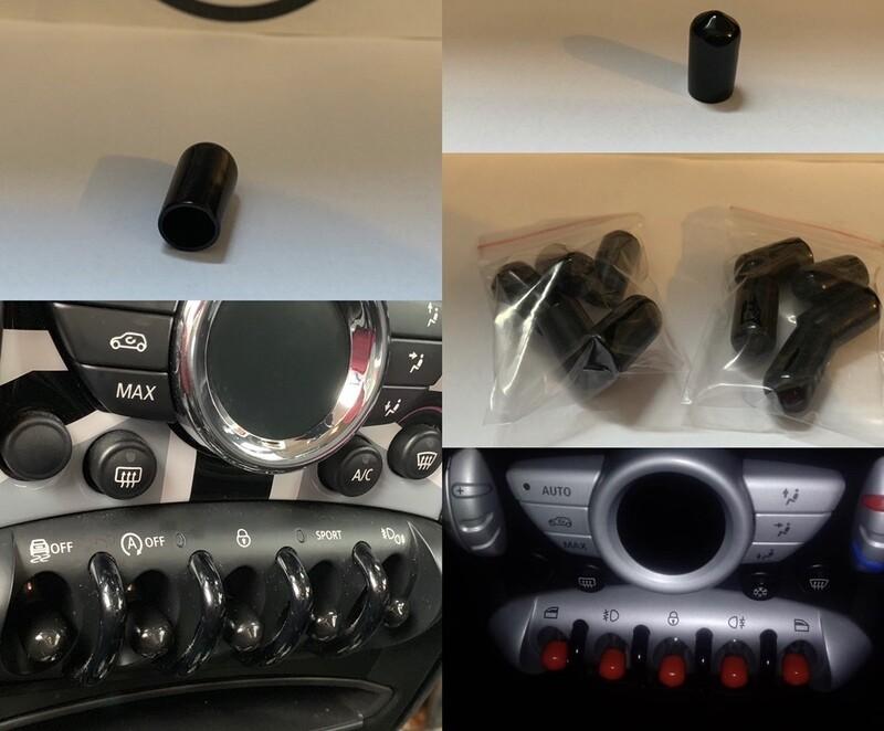 10 x MINI toggle switch caps / covers.