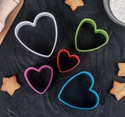 Набор форм для печенья и пряников Сердце 5 шт