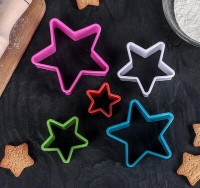 Набор форм для печенья и пряников Звезда 5 шт