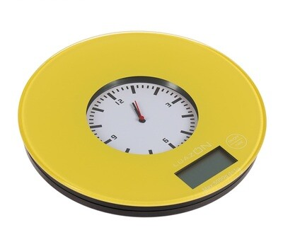 Весы кухонные 2 в 1 с часами до 5 кг