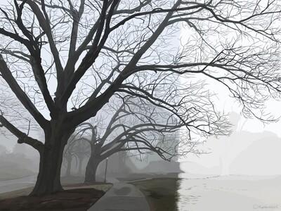 New England Fog Print