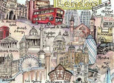 London Map Canvas Pritn