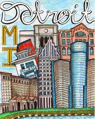 Detroit Travel Art