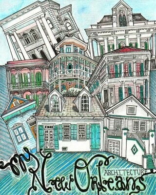 My New Orleans Architecture Travel Art