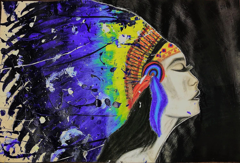 """""""Inner Warrior"""" Paper Print"""