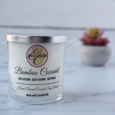 Bamboo Coconut Double Wick Candle 9.5oz