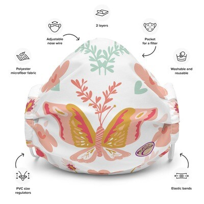 Pink Butterfly Face Mask