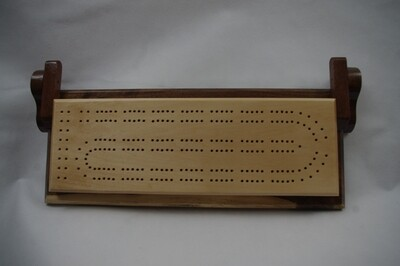 Basswood & Walnut Cribbage Board