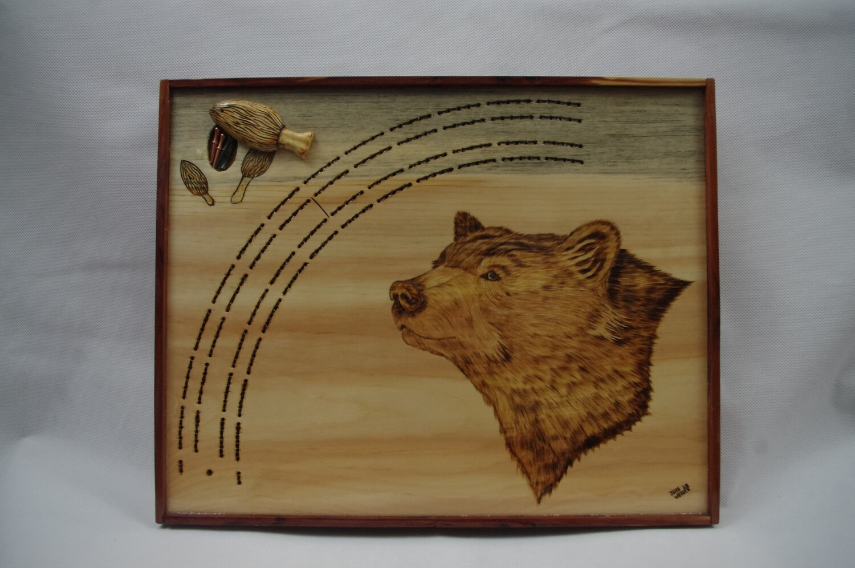 Black Bear Cribbage Board
