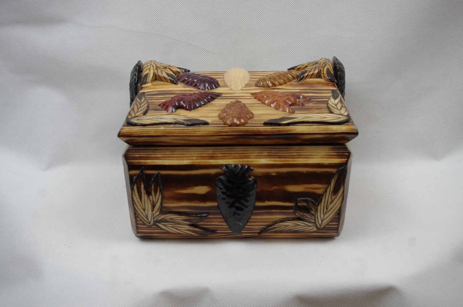 Carved Arrowhead and Feather Box