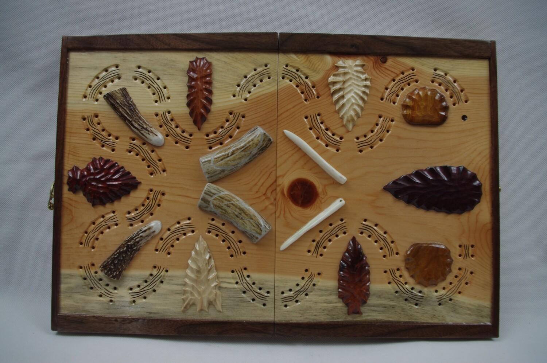 Indian Artifact Cribbage Board