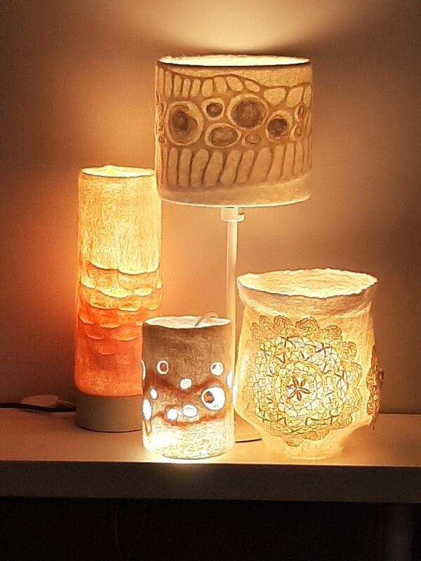 Luminous Felt Lampshade with Rae Woolnough