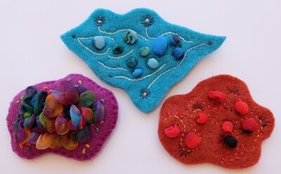 Steam-Set Shibori Brooch with Fiona Hammond